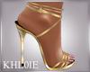 K gold heels