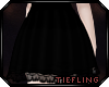 Lace Trim Skirt ~ Onyx