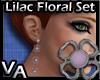 VA Lilac Floral Set E
