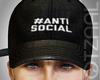 Q  ANTISOCIAL Black cap