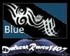 Blue Tribal Arm Tats