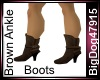 [BD]Brown Ankle Boots