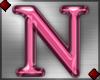 Pink Letter N