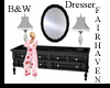 LF B&W Marble Dresser