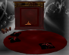 Fireplace and rug