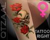 [8Q]Roses+Skull Arm-Tats