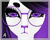 A| Purple Round Glasses