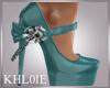 K dona teal heels