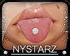 ✮ Diamond Tongue Ring