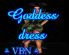 Goddess dress green dark