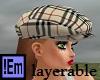 !Em Tan Plaid Gatsby Hat