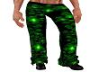 GREEN PVC SKULL PANTS