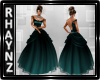 Teal Princess Ball Gown