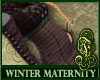 Winter Maternity Purple
