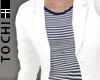 #T Suit-Cz #White+Stripe