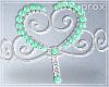 Mint Pearl Swirl Hdress