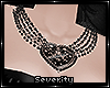 *S Goth Heart Necklace