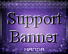 .M. Support Banner
