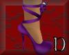 purple lace up heels