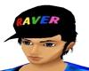 *R* Raver Hat Black Hair
