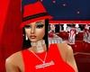 red hippy hat w/hair