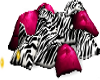 Pink & Zebra Pillows