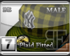 [BE]YellowPlaid|Fitted M