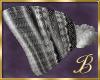 Argyle Beanie hat white