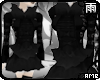 Gothic Black Fur Dress