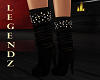 Studded Suade Boots