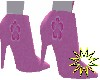 Floral high heel boots
