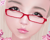 d. geek glasses red
