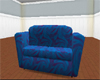 ♛ Blue Swirl Couch