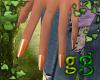 *G Pumpkin Nails