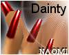 Dainty Blood Red Nails