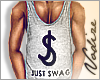 ∇ Just Swag Top - Grey
