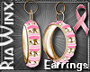 BCA Gold & Pink Hoops