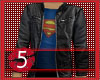 Superman tee with jacket