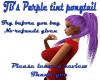 JB's Purpletint ponytail