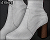 $ White Booties