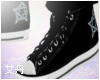 Black Pantagram Kicks