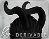Curled Demon Horns DRV