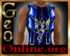 Geo Blue Dragon LongCoat