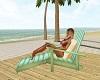 Wooden Beach Lounger