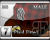 [BE] Red Plaid|Fitted M