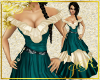 *JR Teal Satin Gown