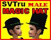 Magic male hat + hair