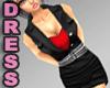Black Dress Sexy Red Top