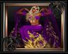 Gold Leaf Shawl Purple F