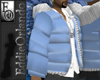 EO Puffy Coat Ltblue